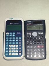 Texas Instruments Ti-34 Calculator and a Casio fx-300ms