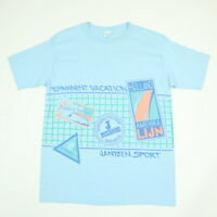 Vtg 90s Jantzen Sport T-Shirt Oversized S/M Single Stitch USA NOS Tennis Beach