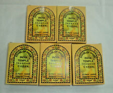 Song of India Incense Cone: Bulk 125 Cones Lot (5 x 25 Boxes) India Temple