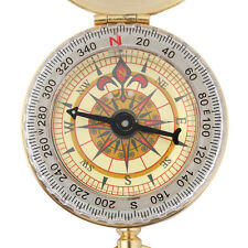Messing Taschenuhr Stil Outdoor Camping Kompass Navigation SchlüsselbundUWTY