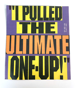 I Pulled The Ultimate One Up! Insert GP-NES-USA Poster NES Nintendo Manual Only
