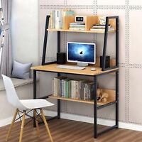4 Model Bookcase Desk Bookshelf Study Table Home Office Computer Workstation