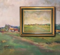 Louise Nys Bruggeman (*1923-2013) Pyrenäen bei Tournay impressionist Öl Malerei