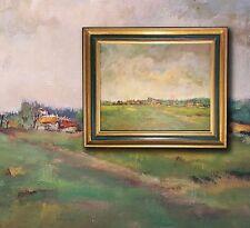 Paisaje Pyrenees de Tournay Pintura al óleo de Louise Nys Bruggeman ( 1923-2013)