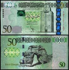 LIBYA 50 DINARS (P80a) 2013 UNC