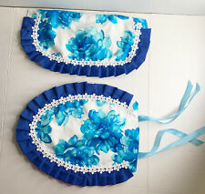 2 Piece Handmade Bathroom Set for Toilet / Tank / Seat Cover.