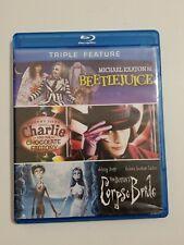 New ListingBeetlejuice/Charli e and Chocolate Factory/Tim Burtons Corpse Bride (Blu-ray Dis…