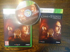 Games of Thrones Le Trône de Fer/ Jeu XBOX 360 / Complet