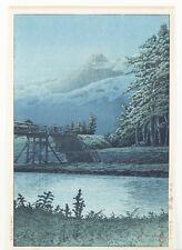 Japanese woodblock print, Hasui Kawase. Lot 460