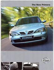 NISSAN Primera 1999-2000 UK Opuscolo Vendite sul mercato se Sport + S e 1.6 1.8 2.0 TD