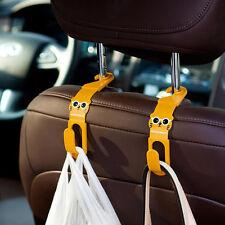 2Stk Universal Rücksitz Auto Kopfstütze Haken Kleiderbügel Halter Spitzhaken OG