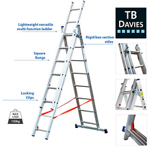 More details for tb davies diy 4way extending combination ladder, works on staircases, en131