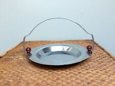 "Art Deco Chrome 7"" Basket Tid Bit Bakelite Ball Decoration"