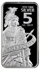 Statue of Freedom 5 Troy oz. .999 Fine Prooflike Silver Bar SKU44150