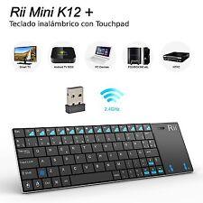 Mini Teclado inalambrico con Touchpad USB RII K12+ mini QWERTY Español
