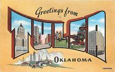 1939 Large Letters linen TULSA OKLAHOMA Postcard 231
