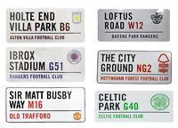 Official Football Club 3D Road Street Sign - Man Utd Everton Aston Villa & More