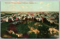 PATERSON NJ BIRD'S EYE VIEW FROM SOLDIER'S MONUMENT ANTIQUE POSTCARD