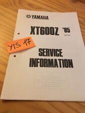 Yamaha XT600Z 1985 XTZ 600 service information technique technical data FR