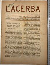 1884) Futurismo Rivista Lacerba anno I n 12 Firenze 1913