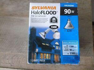 """FLOOD LIGHT SYLVANIA PAR38 90 Watt 130 V BEAM HALOGEN 4.75"""" F/S (6 for 50.00)"""