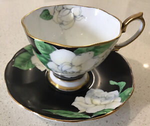 "Vintage Royal Albert Teacup & Saucer Duo ""THE GARDENIA"", Rare c1935."
