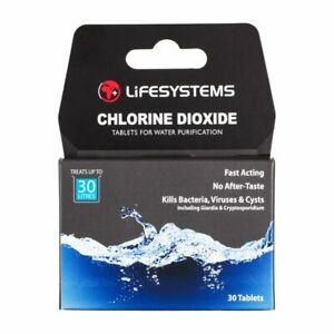 Lifesystems Chlorine Diox Water Purification Tablets (Pack of 30 Tablets)