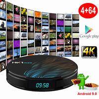 RK3328 Android 9.0 4+64G Smart TV BOX Quad Core Dual WIFI USB 3.0 4K Films HDMI