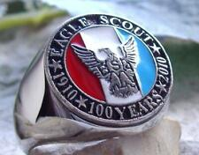 Scout Of America Silver Plated Pin Patch [ Size 11.5 Boy Scouts ] Ring Eagle