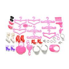 45X Puppe Zubehör Schuhe Tasche Aufhänger Kamm Armband Für Barbie-puppePPTY