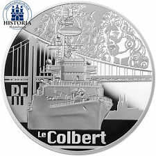 Frankreich 50 Euro Silbermünze 2015 PP Schifffahrt Serie Flak Kreuzer Colbert