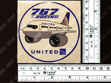 UNITED AIRLINES UAL BOEING B767 B 767 PUDGY DECAL / STICKER 3.5x3.5 in / 9x9 cm