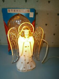 Vintage Sterling No. 273 Illuminated Christmas Angel Tree Topper Original Box
