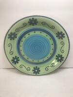 one mulberry home collection dinner plate  green blue 2004 genmert  10 3/4''