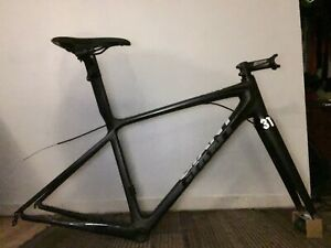 Giant TCR Advanced SL - Di2 Frameset, Raw Carbon/Black Matte - Super lightweight