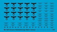 Peddinghaus-Decals 1/35 0870 Deutsche Tansportkisten Beschriftungen