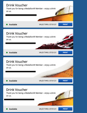 4 Delta Airlines Drink Vouchers Coupon expires 7/31/2021 - Beer Wine Spirit Four