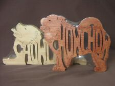 Chow Chow Dog Amish Made  Wood Toy Puzzle NEW