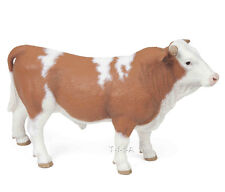 FREE SHIPPING | Papo 51142 Simmental Bull Farm Animal Figurine-New in Package