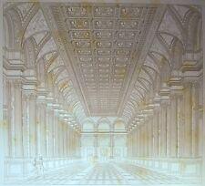 RARE GRAVURE 1844 GALERIE SALONS des FÊTES HOTEL DE VILLE de PARIS V. CALLIAT