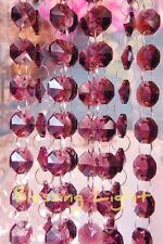 Purple - Lead Glass Crystal - Octagon 14 MM Chandelier - Prisms Chains