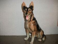 große alte Hundefigur Schäferhund Keramikfigur Porzellanfigur Goebel wie neu