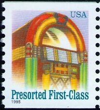 1995 25c Juke Box, American Designs, Coil Scott 2912 Mint F/VF NH