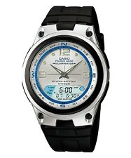 Casio AW-82-7A Fishing Gear Moon Data Analog Digital Silver Dial Watch AW-82
