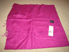 "NEW NWT *Collection Fiftynine* Orchid Pink Scarf $125 Cashmere/Silk 20""x68"""