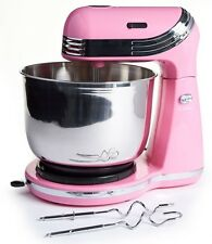 Metallic PINK Electric Compact Stand Mixer -6 Speeds-250W - Kitchen Cake Whisk