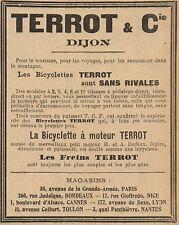 Y8144 Bicyclette à moteur TERROT - Pubblicità d'epoca - 1906 Old advertising