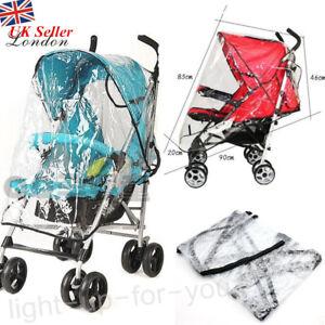 Universal Pushchair Raincover Rain Cover Stroller Baby Pram Buggy Clear Poncho