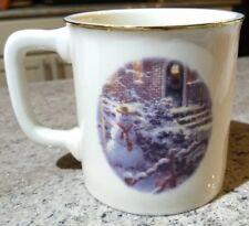 Thomas Kinkade Village Christmas 2000 Coffee Mug! Sticker intact! NWOB KN1616