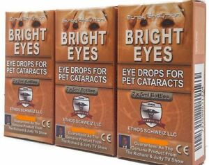 Bright Eyes Cataract Ethos Eye Drops for Dogs 3 Boxes 30ml